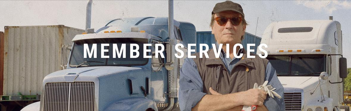 Banner picture for Member Services for MidWest Truckers Association